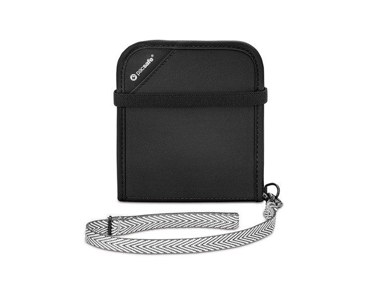 b4752b0a714a9 Portfel z ochroną przed kradzieżą Pacsafe RFIDsafe V100 Black Czarny ...